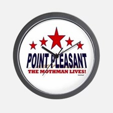 Point Pleasant The Mothman Lives Wall Clock