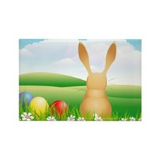 Easter rabbit on a meadow Magnets