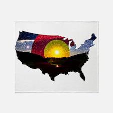 Colorado States of Mind Throw Blanket