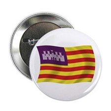 "Balearic Islands Flag 2.25"" Button (100 pack)"