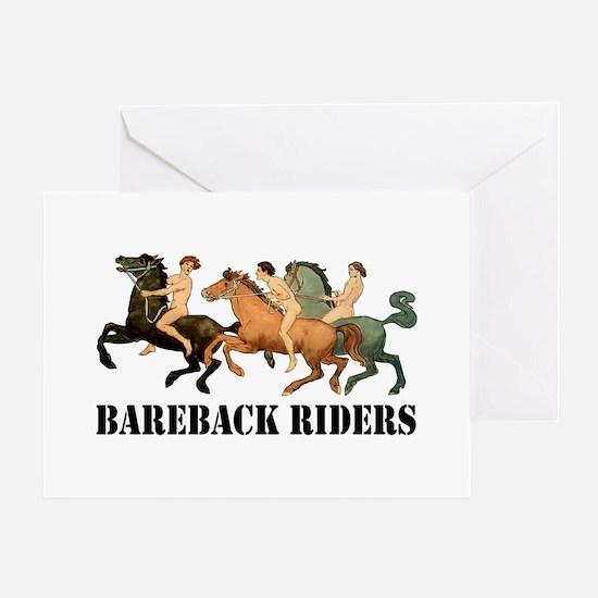 BAREBACK RIDERS Greeting Cards