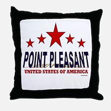 Point Pleasant U.S.A. Throw Pillow