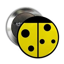 Ladybug Button (Yellow)