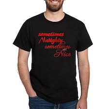 Sometimes Naughty Sometimes Nice T-Shirt