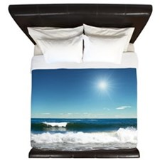Ocean Waves King Duvet