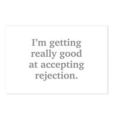 Good At Accepting Rejection Postcards (Package of