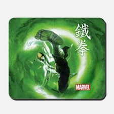 Iron Fist Green Painting Mousepad