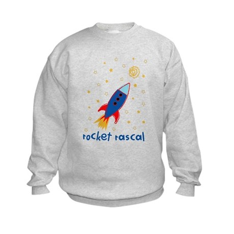 Resden Rocket ship Kids Sweatshirt