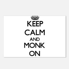 Keep Calm and Monk ON Postcards (Package of 8)