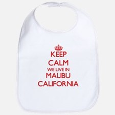 Keep calm we live in Malibu California Bib