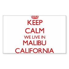 Keep calm we live in Malibu California Decal