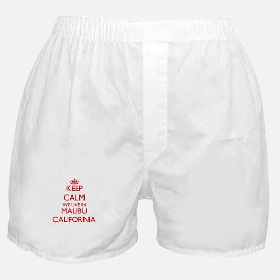 Keep calm we live in Malibu Californi Boxer Shorts