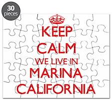 Keep calm we live in Marina California Puzzle
