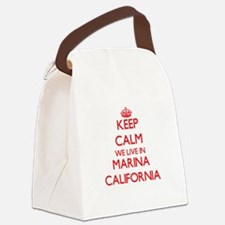 Keep calm we live in Marina Calif Canvas Lunch Bag