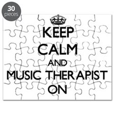 Keep Calm and Music Therapist ON Puzzle