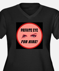 Private Eye For Hire Rose Women's Plus Size V-Neck