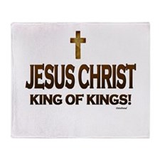 Jesus Christ King of Kings Throw Blanket