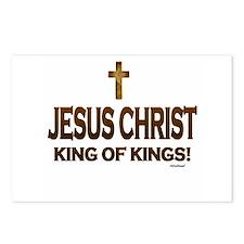 Jesus Christ King of King Postcards (Package of 8)