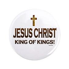 "Jesus Christ King of Kings 3.5"" Button"