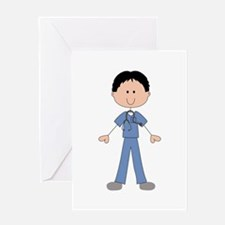 MALE STICK NURSE Greeting Cards