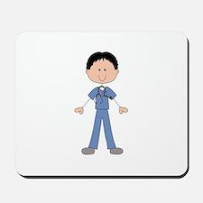 MALE STICK NURSE Mousepad
