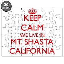 Keep calm we live in Mt. Shasta California Puzzle