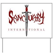 Sanctuary International Logo (RED / White Glow) Ya