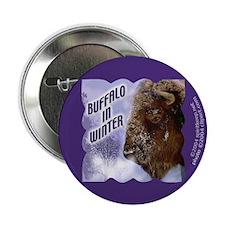 Buffalo in Winter Button