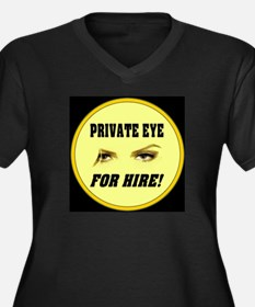 Private Eye For Hire Yellow Women's Plus Size V-Ne