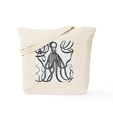 Black Exquisite Ancient Octopus Tote Bag