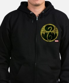 Iron Fist Icon Distressed Zip Hoodie