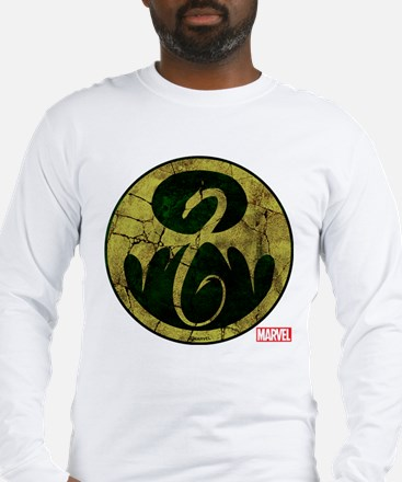 Iron Fist Icon Distressed Long Sleeve T-Shirt