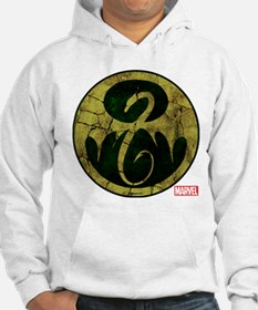 Iron Fist Icon Distressed Hoodie