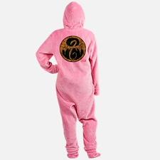Iron Fist Icon Distressed Footed Pajamas