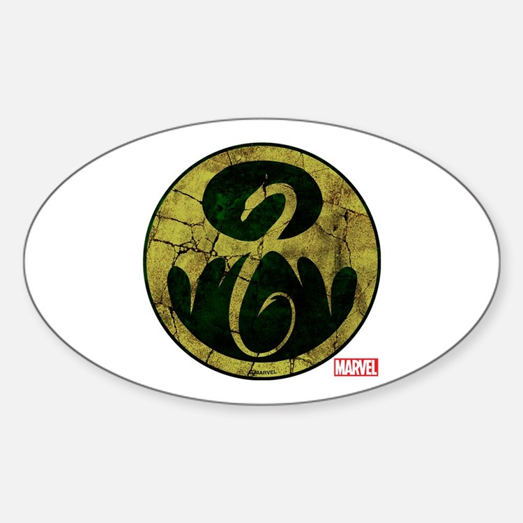Iron Fist Icon Distressed Decal