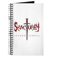 Sanctuary International Logo (RED / White Glow) Jo