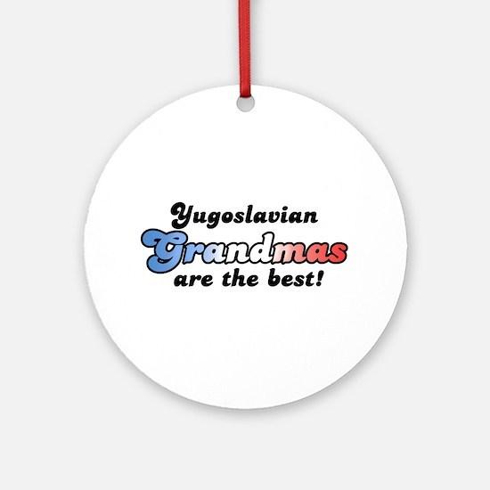 Yugoslavian Grandma Ornament (Round)