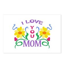 I LOVE YOU MOM Postcards (Package of 8)