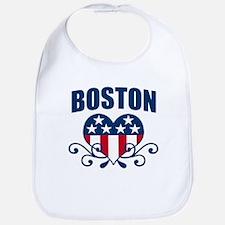 Boston Stars and Stripes Hea Bib