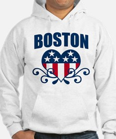 Boston Stars and Stripes Hea Hoodie