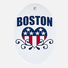 Boston  Stars and Stripes Hea Oval Ornament