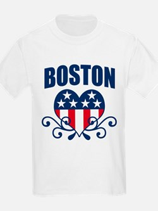 Boston Stars and Stripes Hea T-Shirt