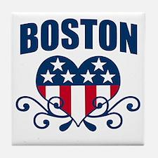 Boston  Stars and Stripes Hea Tile Coaster