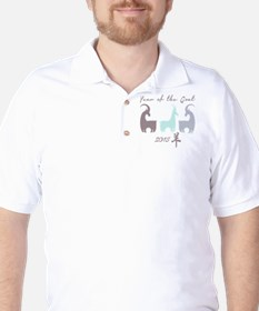 Stylized Pastel Year of the Goat Golf Shirt