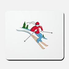 SNOW SKIER Mousepad
