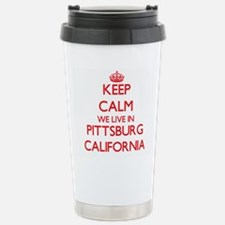 Keep calm we live in Pi Travel Mug