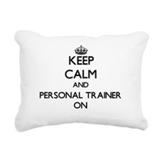 Keep Calm and Personal T Rectangular Canvas Pillow
