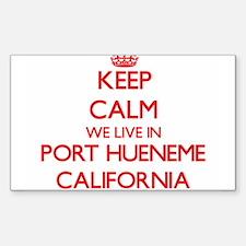Keep calm we live in Port Hueneme Californ Decal