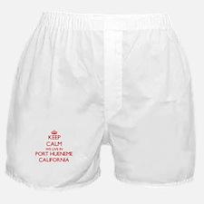 Keep calm we live in Port Hueneme Cal Boxer Shorts