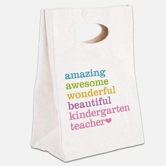 Kindergarten Teacher Canvas Lunch Tote